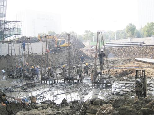 地源热泵施工现场